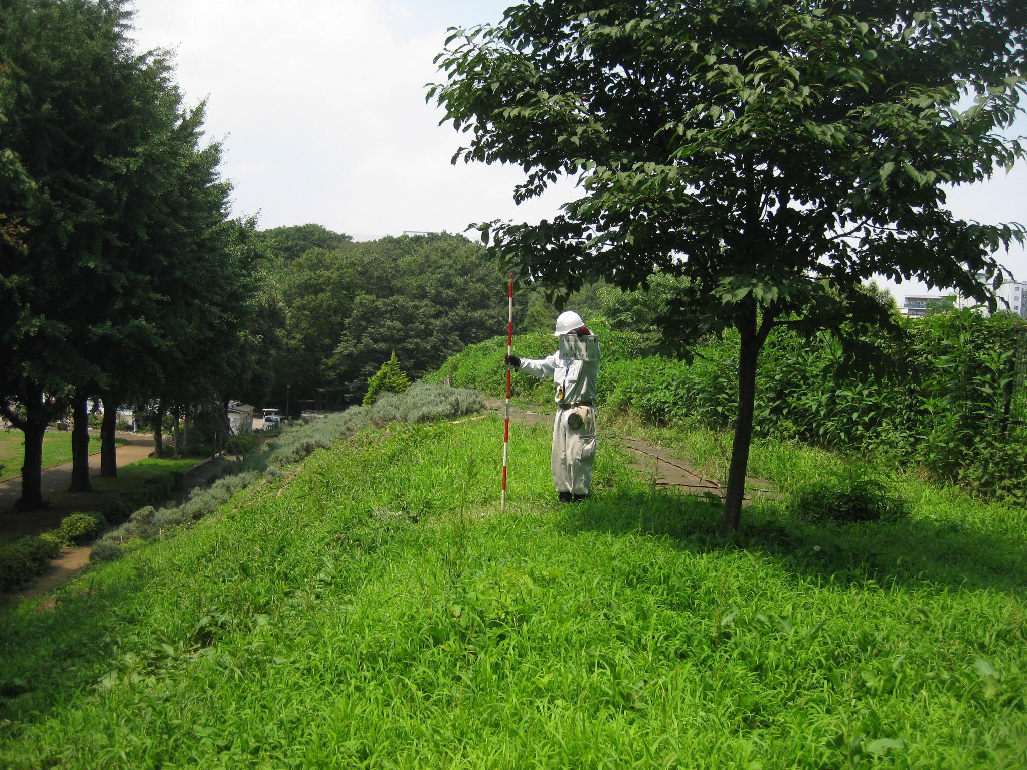 戸山公園現況測量